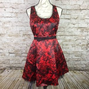 Princess Vera wang like new red & black dress 9